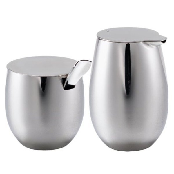 Bodum Columbia Stainless-Steel Sugar and Creamer Set