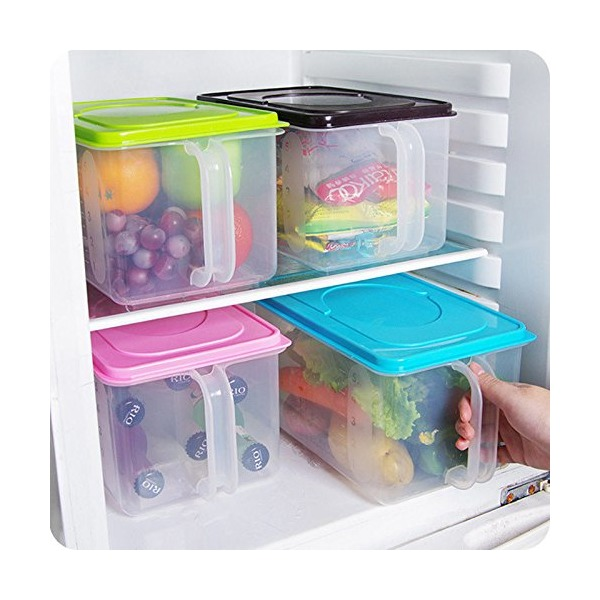 Kitchen Food Crisper Food Container Box Refrigerator Storage Box with Handle