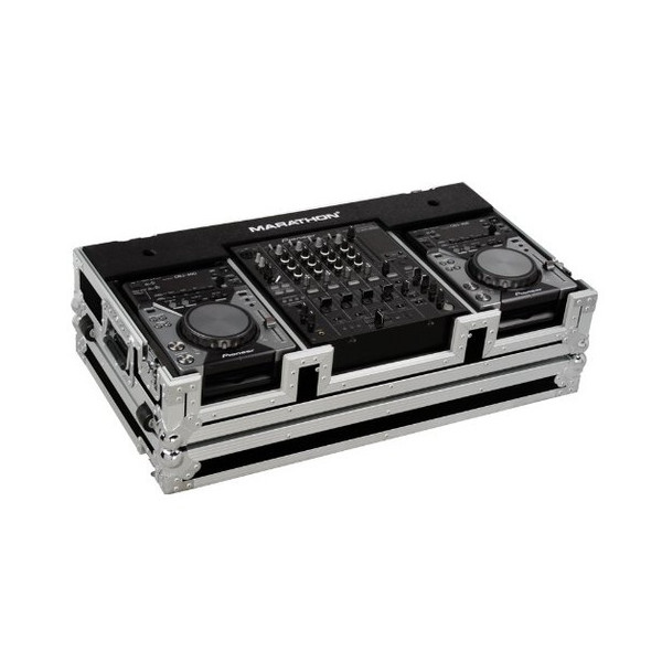 Marathon Case: Holds 2 X Small Format Cd Players: Gemini, Pioneer, Denon Players + 12-inch Mixer: Pioneer, Gemini, Denon, Allen & Heath Xone, American Audio W/ Wheels