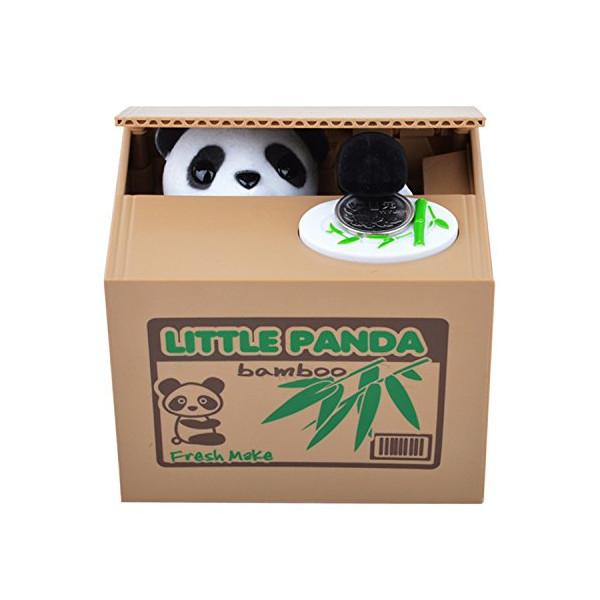 Viskey Cute Stealing Coin Cat Money Box Piggy Bank, Panda
