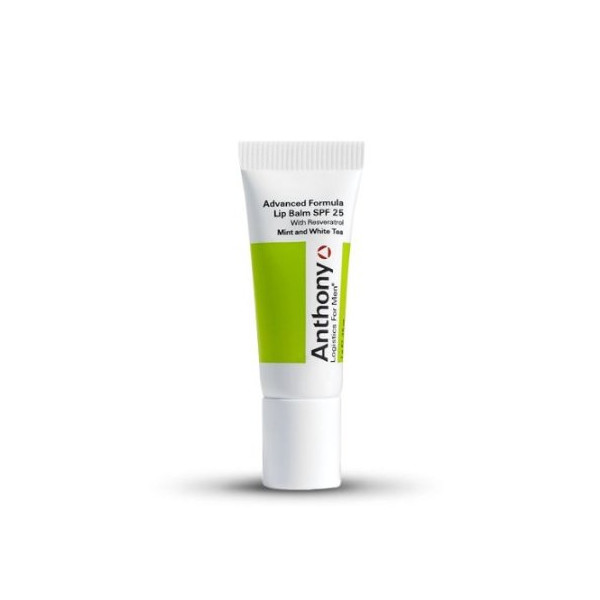 Anthony Logistics Lip Balm SPF 25 for Men, Mint and White Tea, 0.25 Ounce