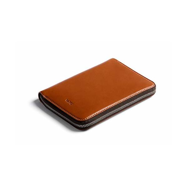 Bellroy Travel Folio (2 passports, 4-8 cards, boarding passes, cash and a pen) - Caramel