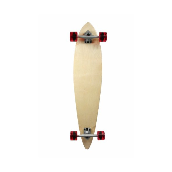 "Natural Blank & Stained Complete Longboard Pintail Skateboard (Natural, 40"" x 9)"