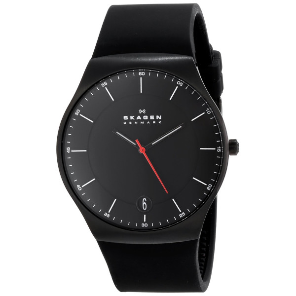 Skagen Balder Quartz 3 Hand Date Titanium Black Watch