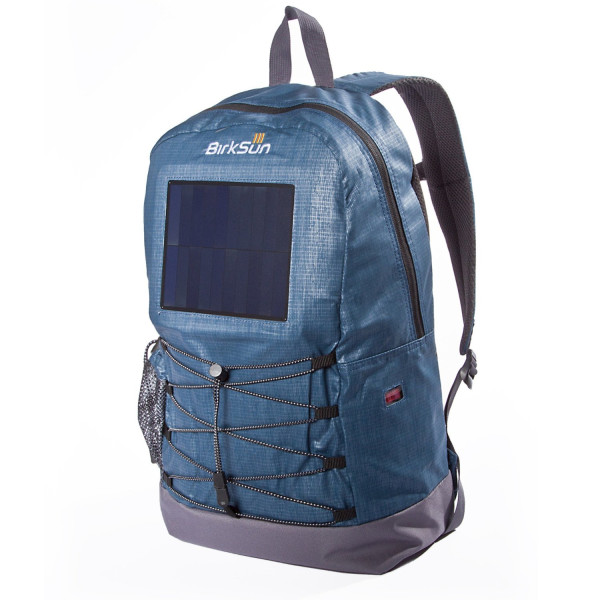Teal Blue Birksun Solar Levels Backpack - Charges your Tablet, Laptop, Smart Phones using an outlet or the Sun's energy! Green energy at its finest, keeps your devices charged! Great Solar Daypack!