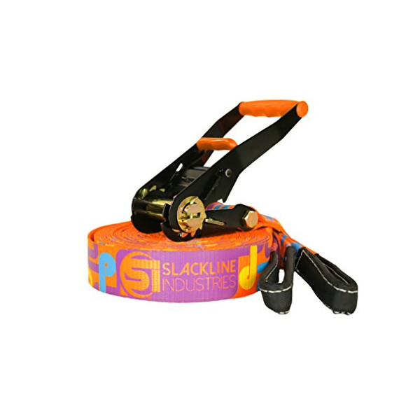 Slackline Industries Playline Slackline, 40-Feet, Orange