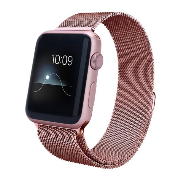 LSoug Apple Watch Band,38mm Milanese Loop Stainless Steel Bracelet Strap Replacement Wrist Band for iWatch with Magnet Lock