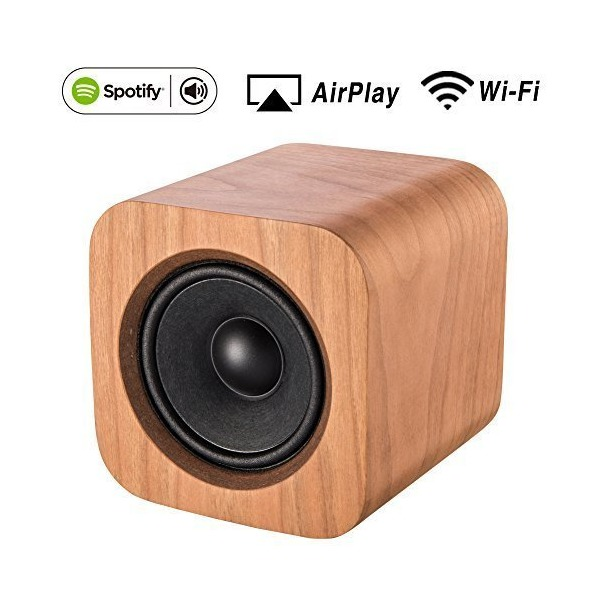 AirPlay and Spotify Connect Speaker with Wi-Fi Connectivity-Sugr Cube (Cherry Color)