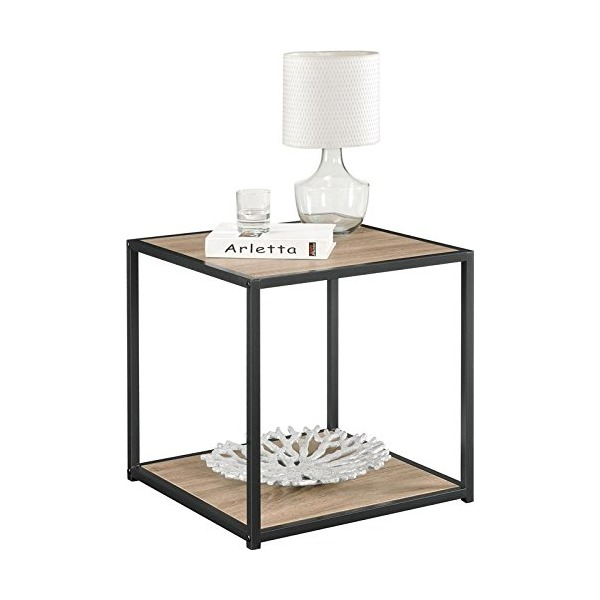 Altra Furniture End Table with Metal Frame, Sonoma Oak