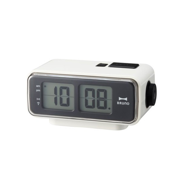 Retro Digital Flip Desk Alarm Clock White