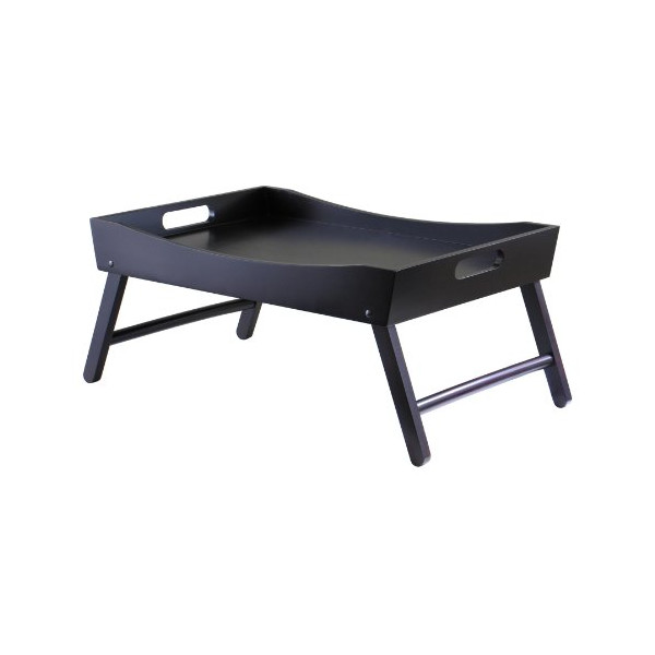 Winsome Wood Benito Bed Tray with Curved Top, Foldable Legs