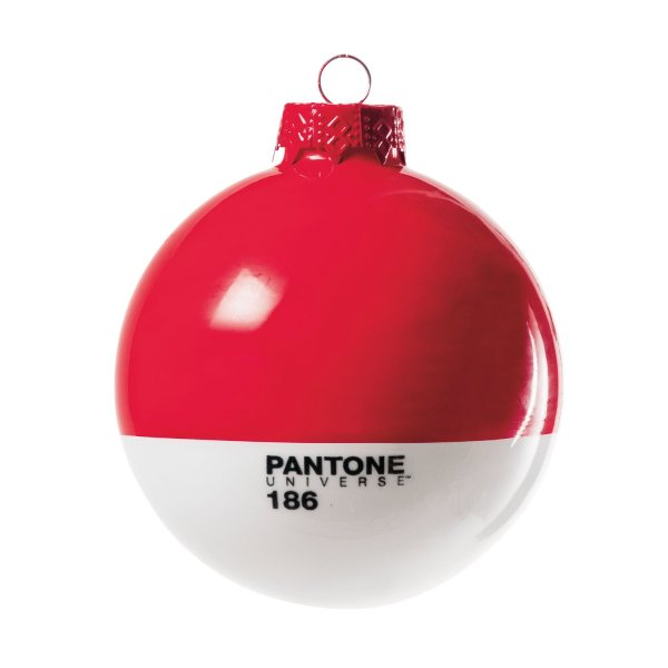 Pantone Christmas Ornament 186 Ruby Red