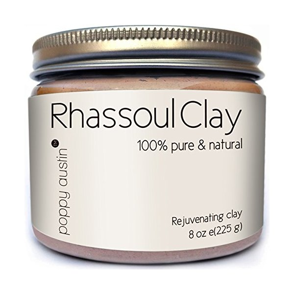 FINEST Rhassoul Clay Hair and Facial Mask (Ghassoul) by Poppy Austin®. Voted Best Deep Pore Facial Cleanser, Blackhead Remover and Pore Minimizer 2015. A 100% Organic All Natural Face Wash and Anti-Aging Healing Clay to Soften, Hydrate and Restore a Youth