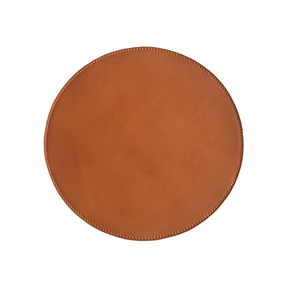 Genuine Leather Mouse Pad with Suede Leather Backing