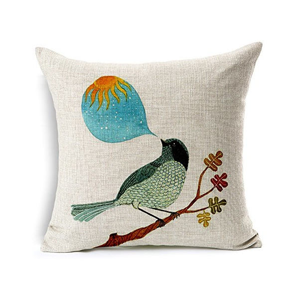 "Heartybay® Cartoon Floral Birds Hand Painted Bird Pillow Covers 18""x18"""