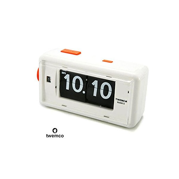 Twemco Retro Modern Germany Quartz Movement Alarm Flip Clock Al30 (white)