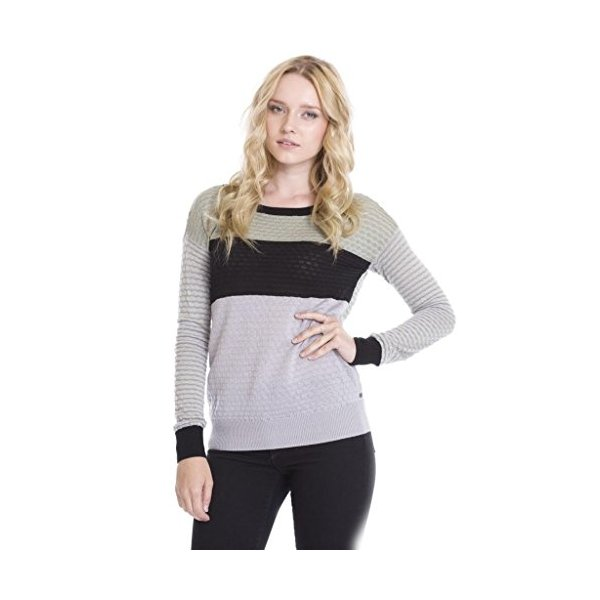 One Grey Day Women's Echo Pullover Designer Sweaters-Grey-L