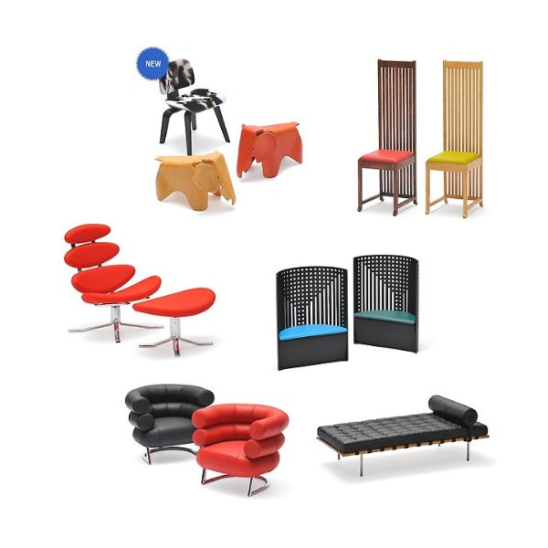 Designers Miniature Chair Vol.6 (1/12 Scale); Set of 12