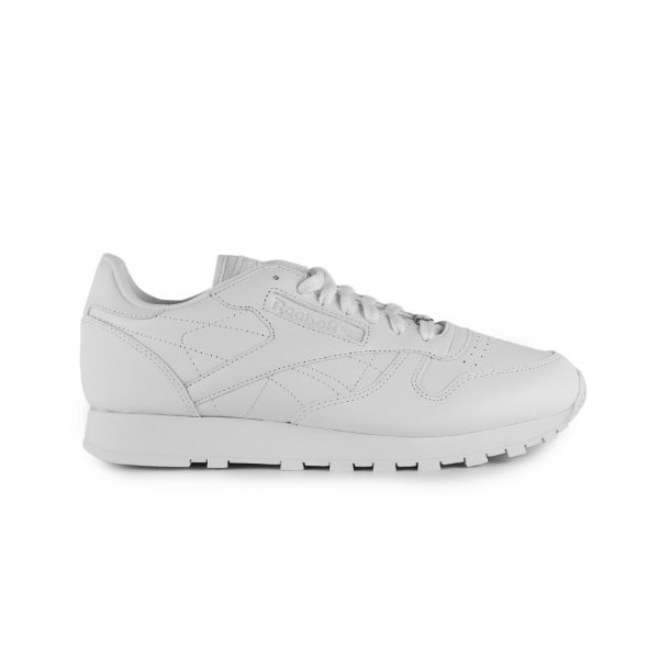 Reebok Men's REEBOK CLASSIC LEATHER RUNNING SHOES 10.5 Men US (WHITE/WHITE/WHITE)