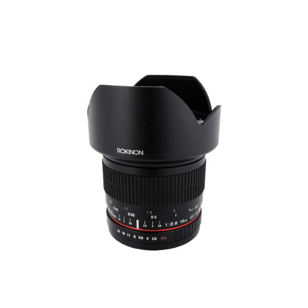 Rokinon 10mm F2.8 ED AS NCS CS Ultra Wide Angle Fixed Lens for Sony E-Mount (NEX) Cameras (10M-E)