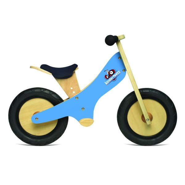 Kinderfeets Blue Chalkboard Wooden Balance Bike