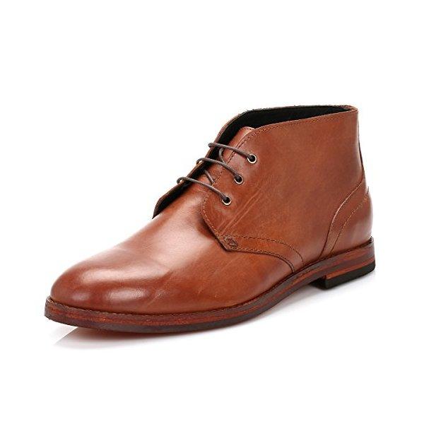 H By Hudson Men's Houghton2 Chukka Boot,Tan Calf,41 EU/41 M US