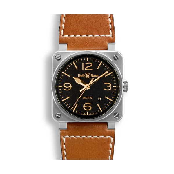 Bell & Ross Aviation Mens Automatic Watch BR-03-92-GOLDEN-HERITAGE