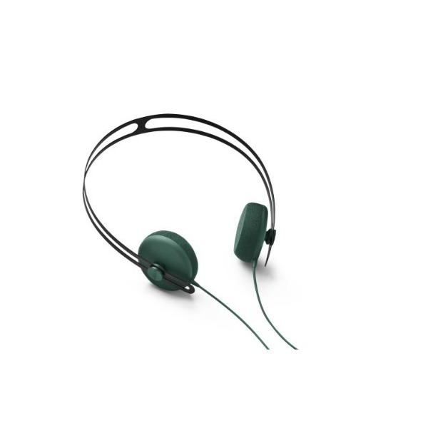 Aiaiai Tracks Headphone with Mic,Green,One Size