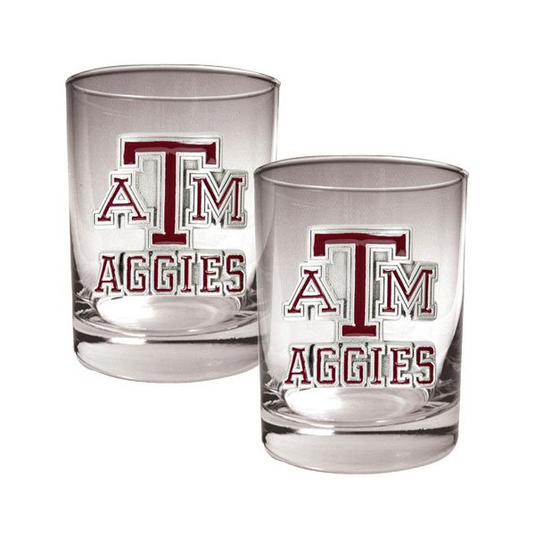 NCAA Texas A&M Aggies Two Piece Rocks Glass Set