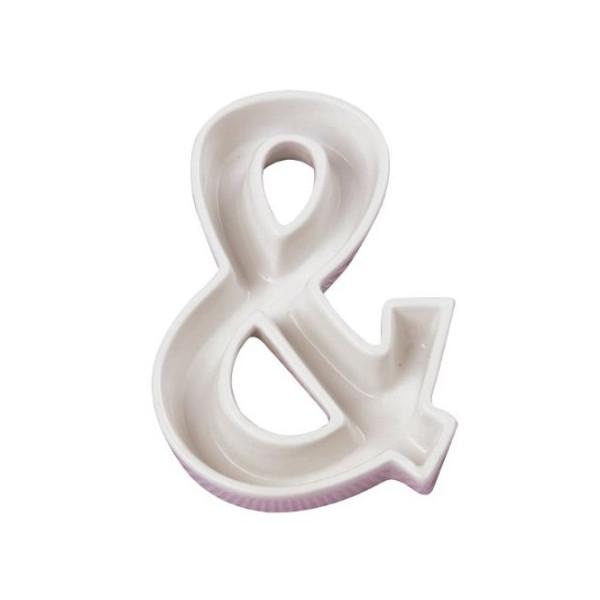 Ivy Lane Design Ceramic Love Letter Dish, White