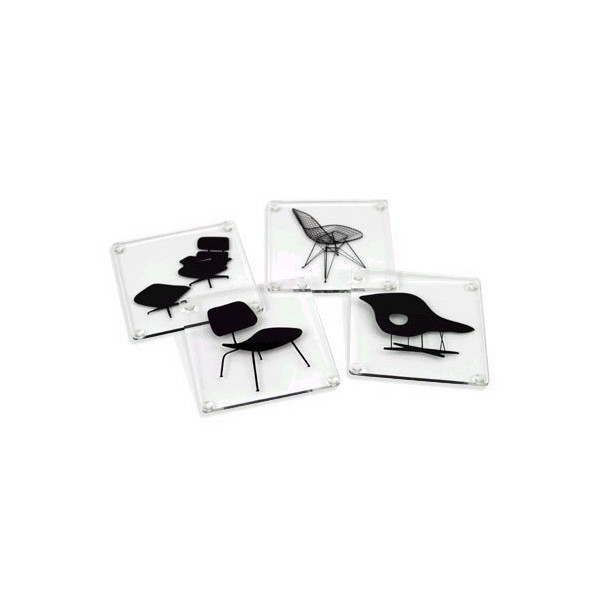 Museum of Modern Art Eames Acrylic Chairs Coasters