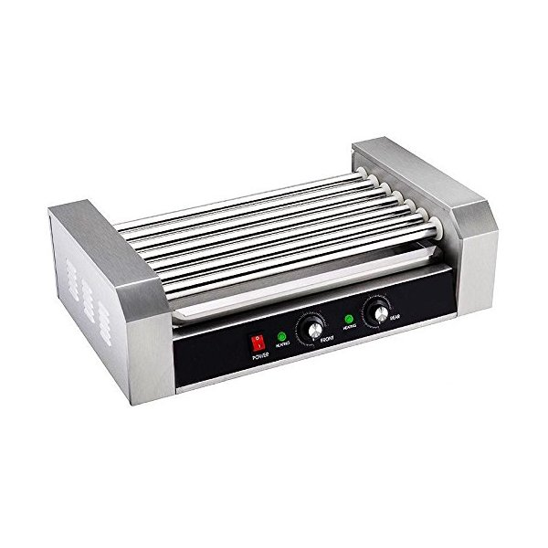 Portable Stainless Commercial 18 Hot Dog 7 Roller Grilling Machine Home Business