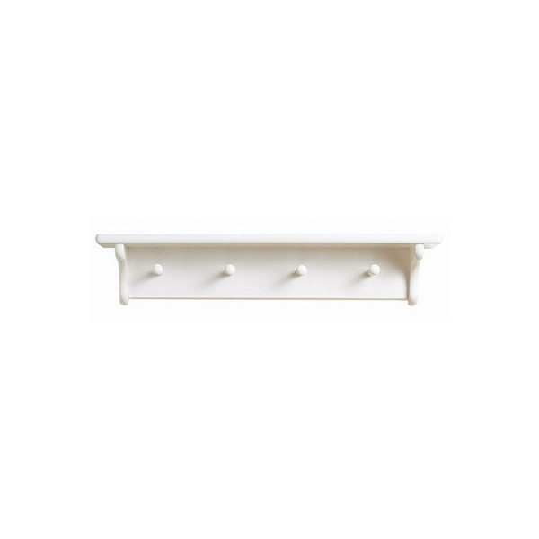 Little Colorado Traditional Peg Shelf, White