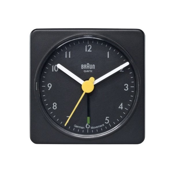 Braun Travel Alarm Clock Black