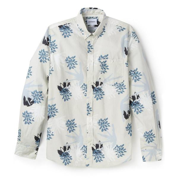 Norse Projects Men's Anton Jungle Cotton Shirt, Blue