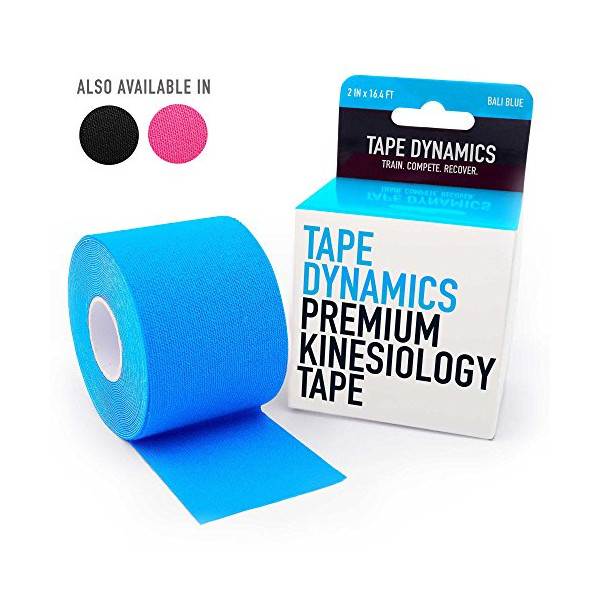 "TAPE DYNAMICS Premium Kinesiology Tape | Water Resistant - Multi Day Support | Aids Athletic Performance, Injury Recovery, & General Well-Being | Apply on Ankle, Calf, Knee, Elbow, Shoulder, Back, Wrist, Neck and More | 2"" x 16.4 ft. 
