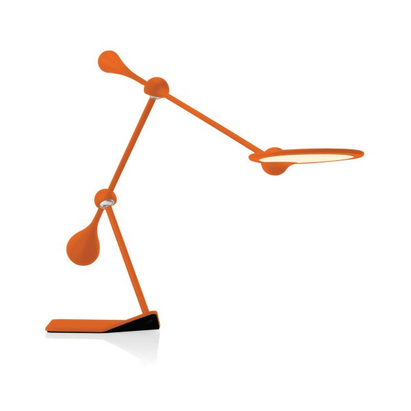 Small Trapeze LED Task Lamp, Orange