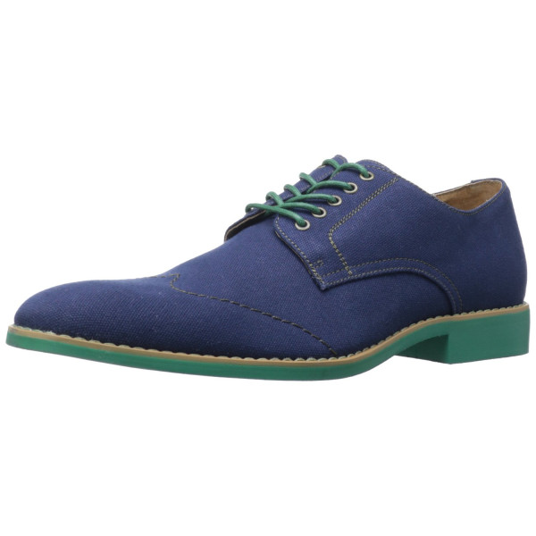 JD Fisk Men's Vittel Oxford,Navy Canvas,8 M US