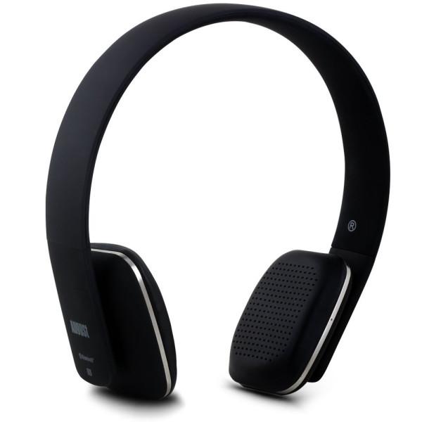 August EP636 Bluetooth Wireless Stereo NFC Headphones, Black