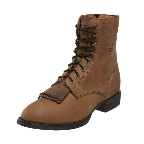 Ariat Women's Heritage Lacer II Western Boot, Distressed Brown, 8.5 M US