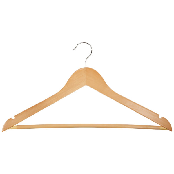 AmazonBasics Wood Suit Hangers - 30 Pack
