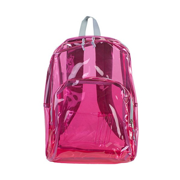 Eastsport Clear Backpack, Tinted Pink