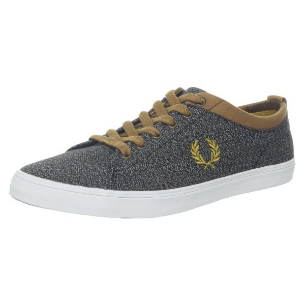 Fred Perry Men's Hallam Twisted Chambray Sneaker