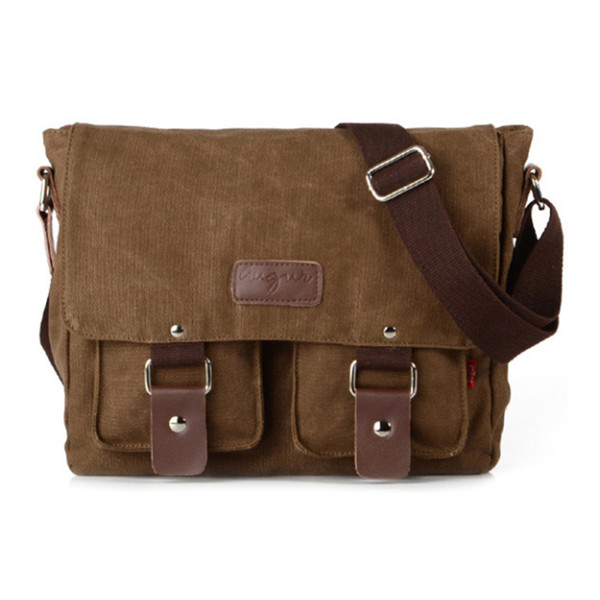 Zenness Canvas Hiking Traveling Satchel Messenger Bag