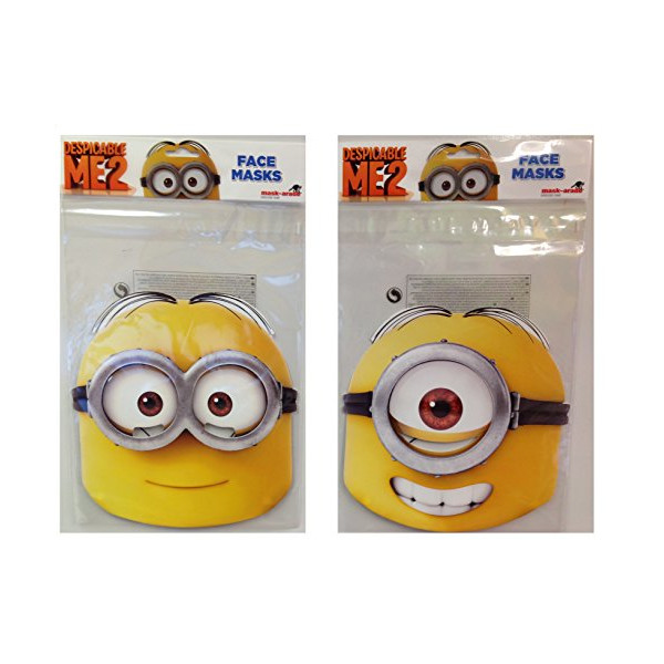 Despicable Me 2 - Dave and Stuart High Quality Cardboard Masks double pack