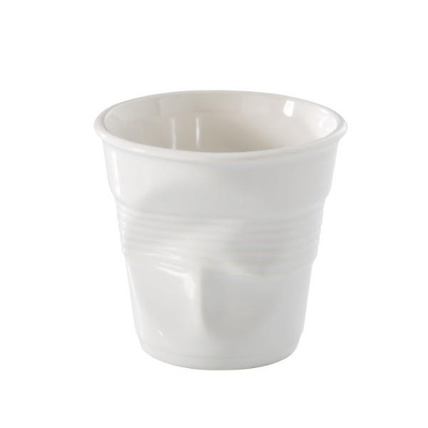 Revol 638116 Froisses Cappucino Crumple Tumbler, White