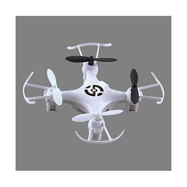 New X6 Nano Mini Quadcopter Drone White with LED Lights and Propeller Guards, larger style remote control complete with spare parts and charger, makes a great gift! 2.4Ghz Nano RC 4CH 6 Axis Gyro