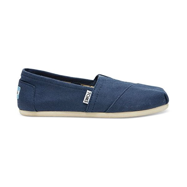 TOMS Women's Canvas Slip-On,Navy,6.5 M