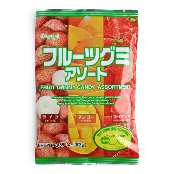 Kasugai Gummy Candy, Fruit Assortment
