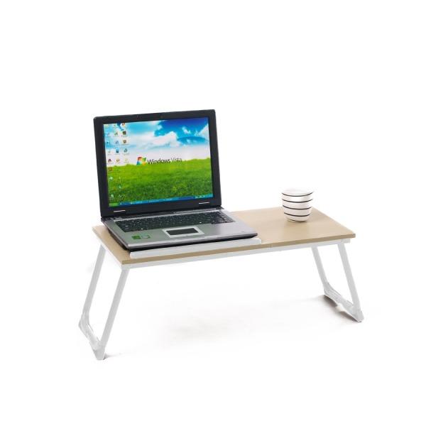 Vecelo Portable Folding Notebook Laptop Computer Desk, Laptop Bed Table Desk
